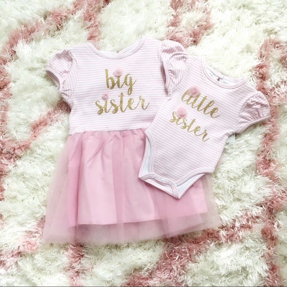7a7f07b0c04d9 NWT Matching Big Sister Little Sister Outfits NWT